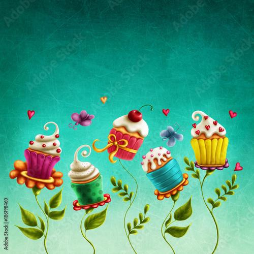 Ciastka na kwiaty cup