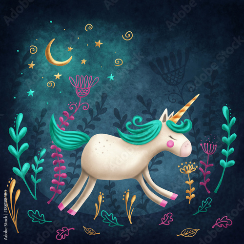 Little unicorn Tablou Canvas