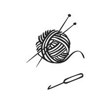 Vector Hand Drawn Icon Of Knit...