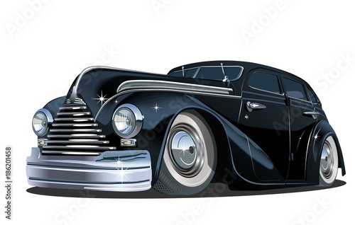 Cartoon retro car