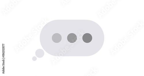 Vector modern concept text message isolated on white. Canvas