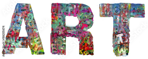 Photo  graffiti word ART