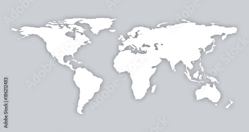 Gray similar world map blank vector flat template object infographic gray similar world map blank vector flat template object infographic art card stock isolated world gumiabroncs Image collections