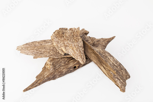 Agarwood, also called aloeswood incense chips from Thailand Wallpaper Mural