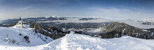 Winter View From The Top Of Monte Lussari, Italy