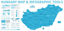 Hungary Map - Info Graphic Vector Illustration