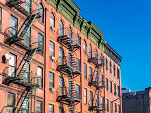 A Typical Facade Of A Building In Harlem New York