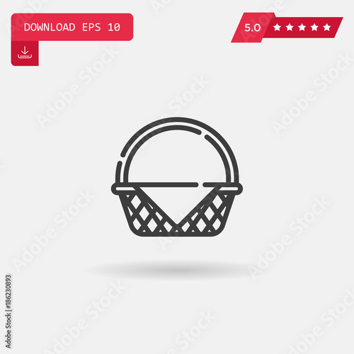 picnic basket vector icon. Fototapet