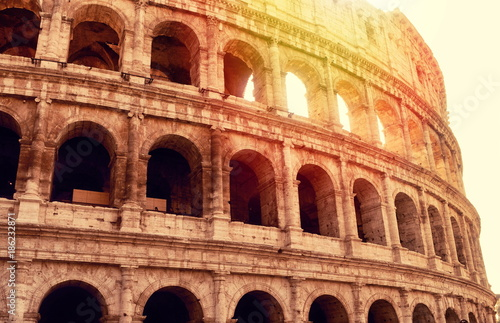 View on Coliseum in Rome © gmstockstudio