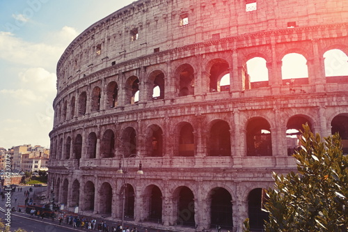 Photo  View on Coliseum in Rome