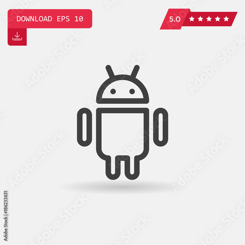 Photo android vector icon.