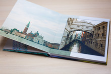 Open Book With Venice Image An...