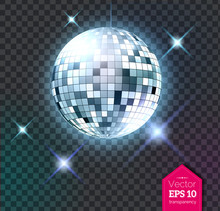 Silver Disco Ball With Lights