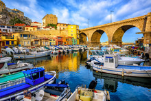 Old Fishing Port In Marseilles...