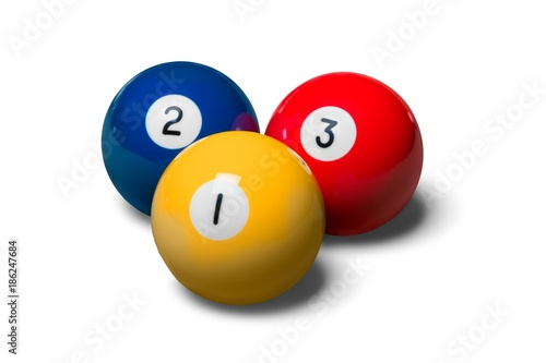 Fototapeta Billiard Balls