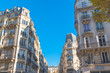 Paris, beautiful building facades in a attractive area of the capital