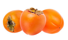 Persimmon Fruit Isolated On Wh...