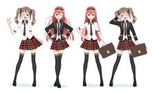 Beautiful Anime Manga Schoolgi...