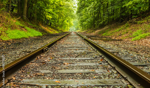 Abandoned railroad background