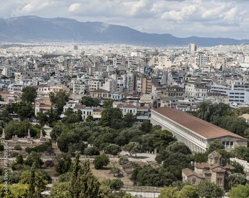 vista panoramica di Atene - Grecia Canvas Print