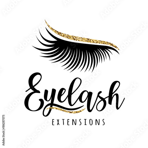 Eyelash extension logo Wallpaper Mural