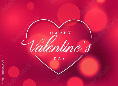 Photographie beautiful valentine's day greeting background with bokeh effect