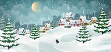 Winter Village Landscape