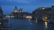 the basilica st mary and grand canal at dusk in venice, italy