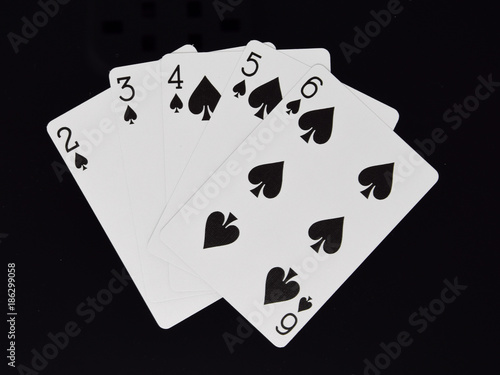 Poker hand straight Flush плакат