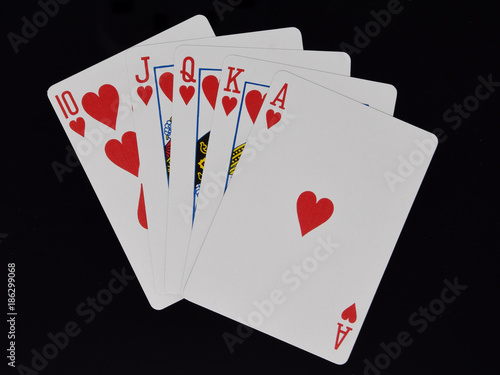 Royal Flush Poker hand плакат