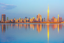 View On Dubai Skyline At The S...