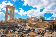 Stoa, Portico And Propylaea On...
