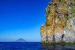 canvas print picture eolian island, landscape with rocks close to Stromboli volcano, Sicily