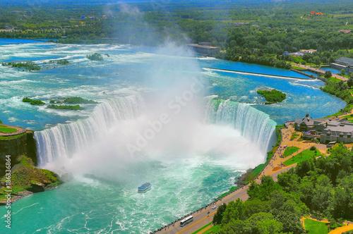 mata magnetyczna Beautiful Niagara falls.