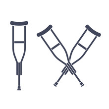Crutches Vector Icon