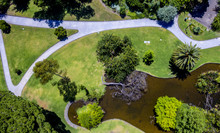 Drone Photo Of Park With A Dea...