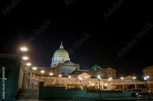 Fényképezés Pennsylvania State Capitol Building at Night
