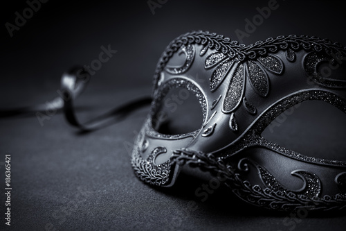 Canvas Prints Carnaval Carnival mask on a black background