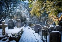 Winster Churchyard In Snow
