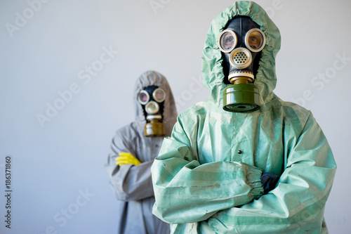 People in gas masks Canvas