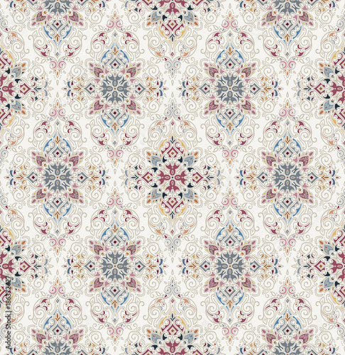 Vector damask seamless pattern Fotobehang