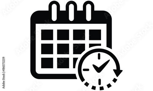 Obraz Black Schedule Icon  - fototapety do salonu