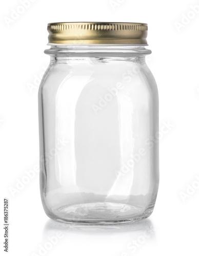 empty glass jar isolated Slika na platnu