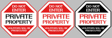 Do Not Enter Private Property....
