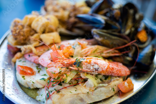 Maltese seafood and fish platter