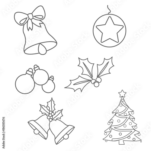 Christmas ornaments colouring pages on white background - Christmas Ornaments Colouring Pages On White Background - Buy This