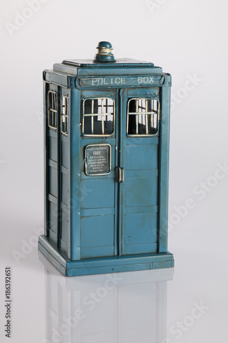 Fototapeta Police Box as Doctor Who's Tardis Isolated
