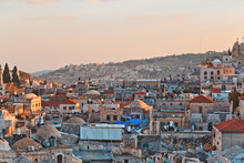 View On N Rooftops Of Old City Of Jerusalem