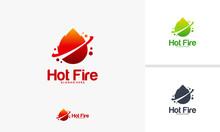 Hot Fire Logo Designs Concept, Fire Flame Logo Template Vector