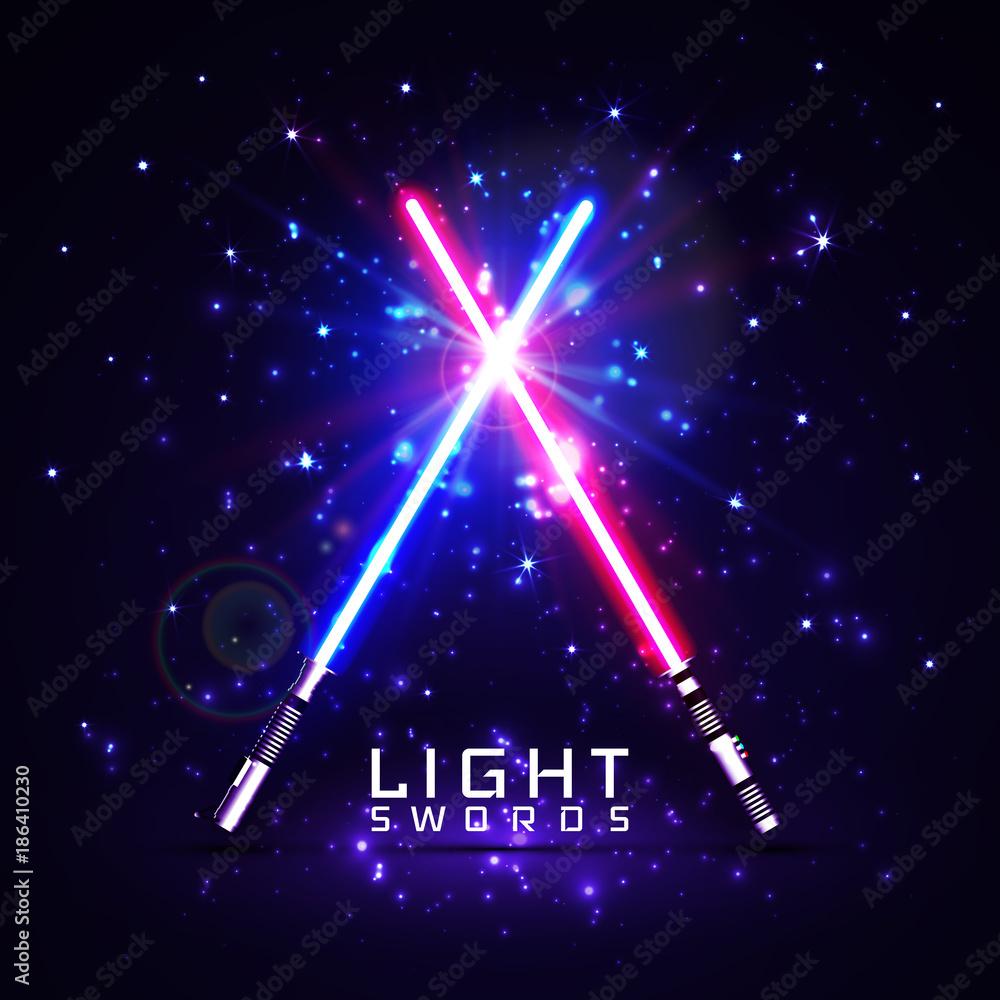 Fotografie, Obraz neon light swords